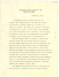Memorandum from W. E. B. Du Bois to The Chairman of the Board of Directors of the NAACP