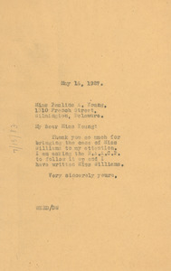Letter from W. E. B. Du Bois to Pauline A. Young
