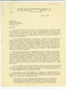 Letter from National Council of American-Soviet Friendship to Newsweek