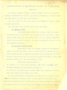 Agreement between the Anti-Lynching Crusaders and the NAACP