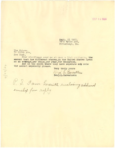 Letter from Benjamin L. Careathers to The Crisis