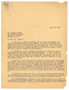 Letter from W. E. B. Du Bois to Pan African Federation
