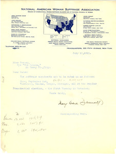 Letter from the National American Woman Suffrage Association to The Crisis
