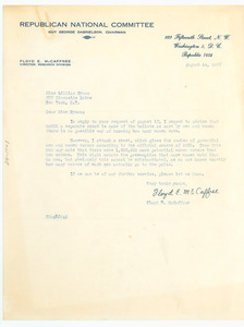 Letter from Republican National Committee to Lillian Hyman