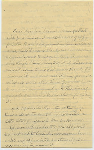 Letter from Louisa Gass to Sarah Kessel