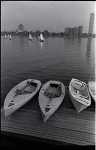Views of Boston: sailboats on the Charles River