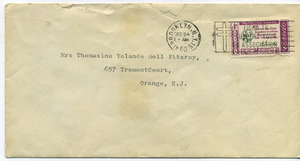 Letter from W. E. B. Du Bois to Donald and Thomasina Yolande Bell Fitzroy