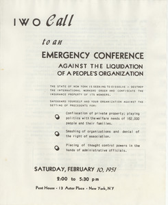 Call to an emergency conference