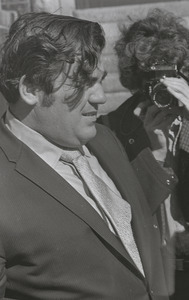 Jimmy Breslin at the funeral of Jack Kerouac