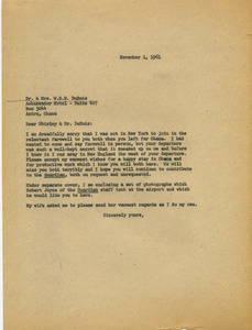 Letter from James Aronson to Dr. and Mrs. W. E. B. Du Bois