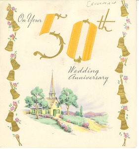 Anniversary card from Mary R. and Walter N. Beekman to W. E. B. and Nina Du Bois