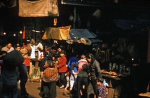 Crowds at the produce market