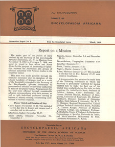 Encyclopedia Africana information report no. 8