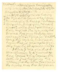 Letter from Lillie Maie Hubbard to W. E. B. Du Bois