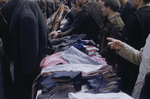 Clothing for sale at Belgrade market