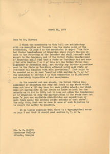 Letter from W. E. B. Du Bois to Georgia Association of Negro Colleges and Secondary Schools