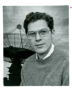 Joseph H. Taylor, UMass Amherst Professor of Physics and Astronomy, and giant radio telescope