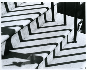 Zigzag banister shadows