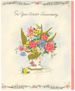 Anniversary card from A. T. & Mrs. Walden to W. E. B. and Nina Du Bois