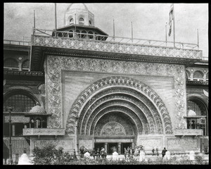 The Golden Gateway to the Transportation Building, Columbian Exposition