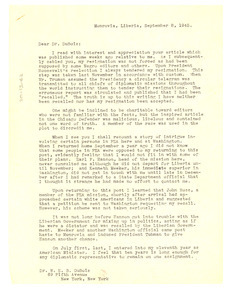 Letter from Lester A. Walton to W. E. B. Du Bois