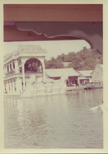 Arriving at the marble boat in Beijing, China