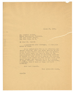 Letter from W. E. B. Du Bois to Wilfred Rankin