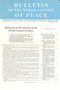 Bulletin of the World Council of Peace, number 19