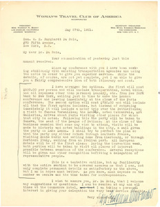 Letter from Myra Kingman Merriman to W. E. B. Du Bois