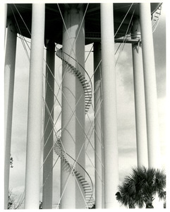 Stairs around water tower