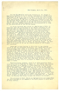 Letter from Victor P. Thomas to unidentified correspondent