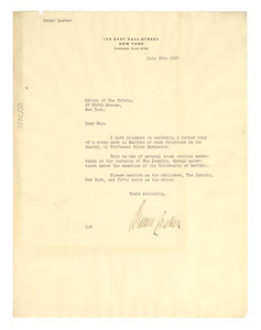 Letter from Bruno Lasker to Editor of the Crisis - Digital
