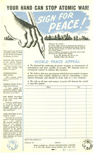 Your hand can stop atomic war!