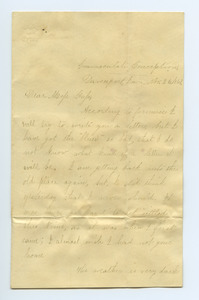 Letter from Helen Pepper to Louisa Gass