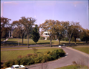Ellis Drive with Stockbridge Hall and Draper Hall in background