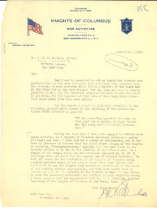 Letter from H. C. Shields to W. E. B. Du Bois
