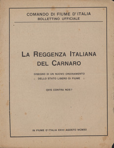 Gabriele D'Annunzio Collection, 1919-1920