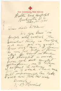Letter from Napoleon B. Marshall to W. E. B. Du Bois