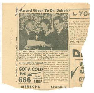 Award given to Dr. Du Bois
