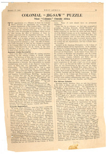 West Africa no. 1613 vol. 32 [fragment]