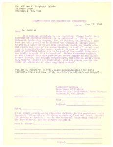 Authorization for release and publication