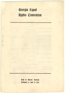 Georgia Equal Rights Convention program