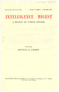 Intelligence Digest Volume 11 Chapter 1