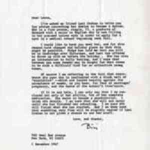Letter from Bici Hendricks to Leona Baumgartner, M.D.