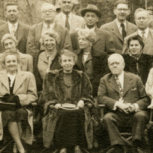 Anna Freud, detail of the First Stockbridge Congress on Child Analysis