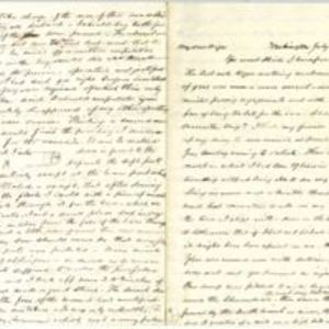 Autograph letter signed : Washington, D.C., to [Abby Ann Newbold Cox, New York, N.Y.?]