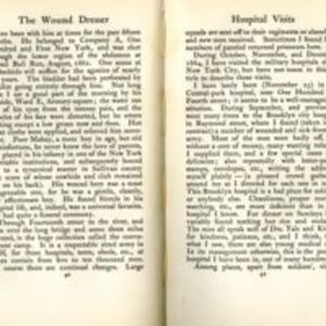 """The Wound Dresser: a series of letters written from the hospitals in Washington during the War of the Rebellion."""