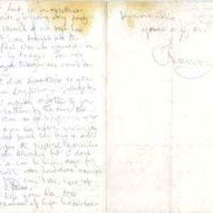 Autograph letter signed : Ely's Ford, Va., to [Jonathan Ingersoll Bowditch, Boston, Mass.].