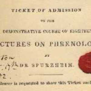 Ticket of Admission to the Demonstrative Course of Eighteen Lectures on Phrenology