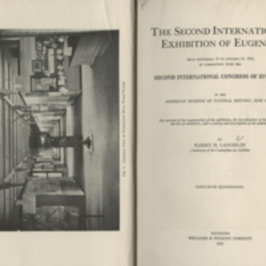 The Second International Exhibition of Eugenics